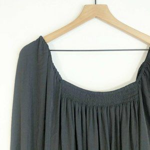 Free People Another Round Bodysuit M Black Square